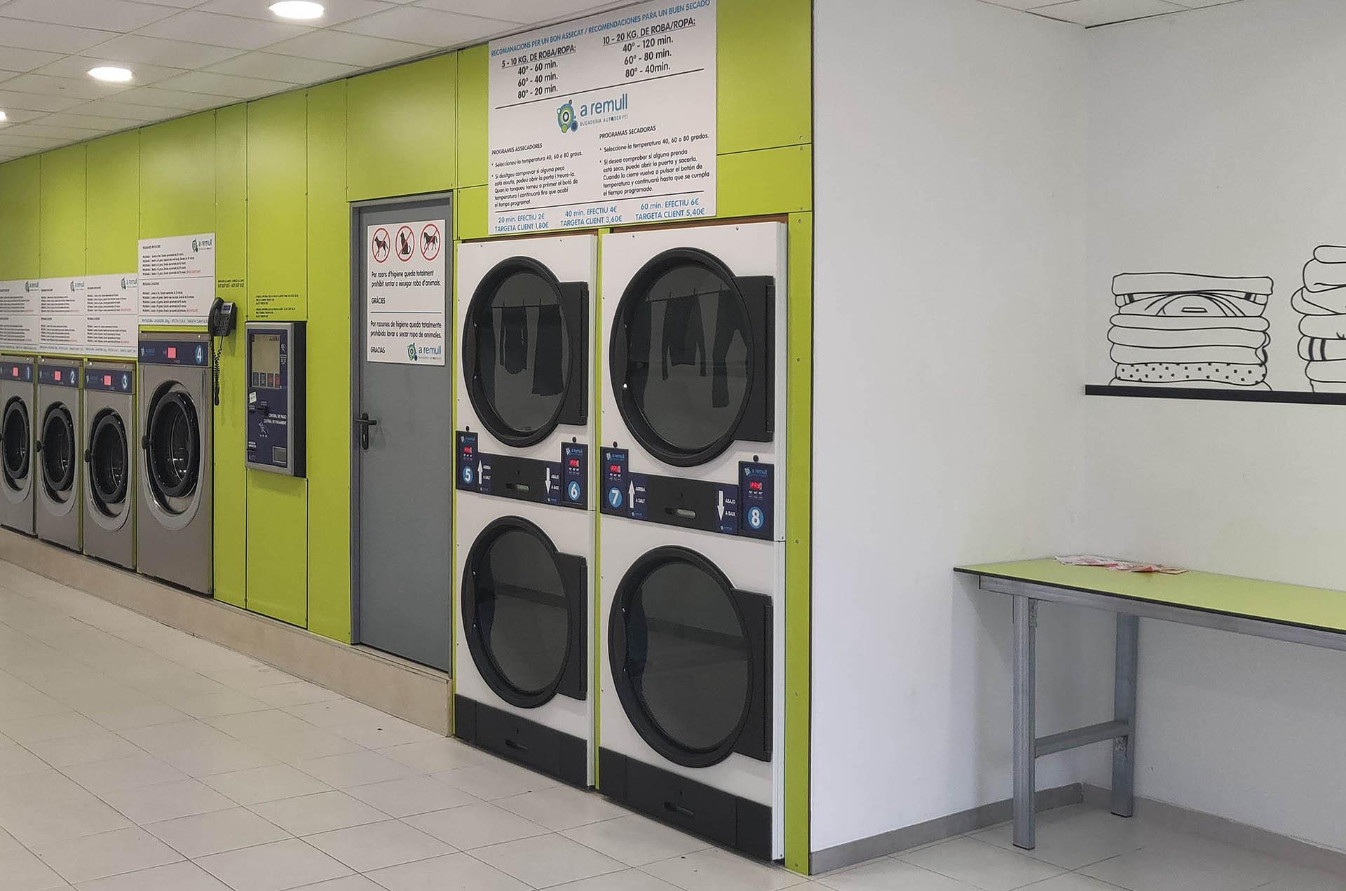 Franquicia de lavandería de Autoservicio